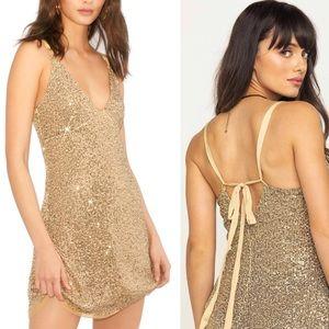 Free People Gold Rush Dress Size Medium NWOT